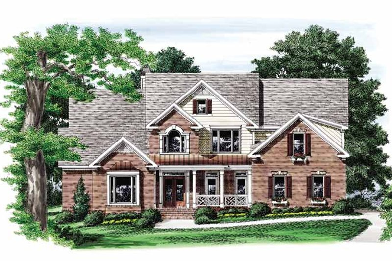Traditional Exterior - Front Elevation Plan #927-718 - Houseplans.com