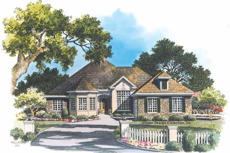 Ranch Exterior - Front Elevation Plan #930-91 - Houseplans.com