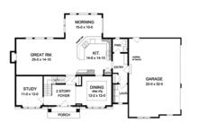 Colonial Floor Plan - Main Floor Plan Plan #1010-95