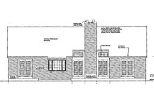 Country Exterior - Rear Elevation Plan #3-266