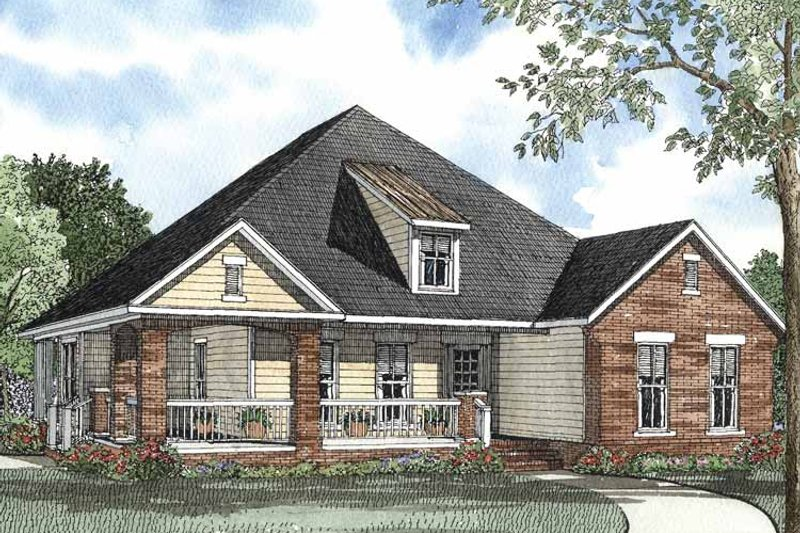 Craftsman Exterior - Front Elevation Plan #17-3106 - Houseplans.com