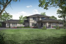 House Plan Design - Prairie Exterior - Front Elevation Plan #124-1107