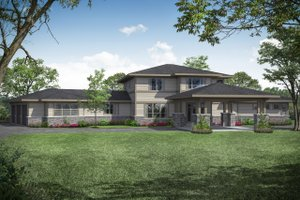 Prairie Exterior - Front Elevation Plan #124-1107