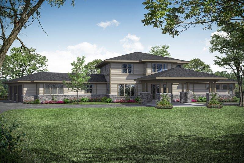 Home Plan - Prairie Exterior - Front Elevation Plan #124-1107