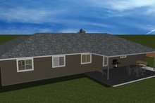 Home Plan - Ranch Exterior - Rear Elevation Plan #1060-31