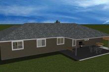 Dream House Plan - Ranch Exterior - Rear Elevation Plan #1060-31