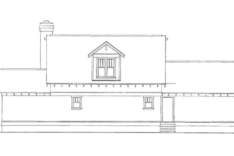 Country Exterior - Rear Elevation Plan #140-174 - Houseplans.com