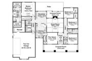 Craftsman Style House Plan - 4 Beds 2.5 Baths 2199 Sq/Ft Plan #21-438 Floor Plan - Main Floor Plan