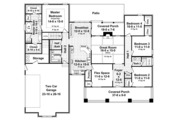 Craftsman Style House Plan - 4 Beds 2.5 Baths 2199 Sq/Ft Plan #21-438 Floor Plan - Main Floor
