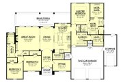 European Style House Plan - 3 Beds 2 Baths 2487 Sq/Ft Plan #430-154 Floor Plan - Main Floor Plan