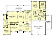 European Style House Plan - 3 Beds 2 Baths 2487 Sq/Ft Plan #430-154 Floor Plan - Main Floor