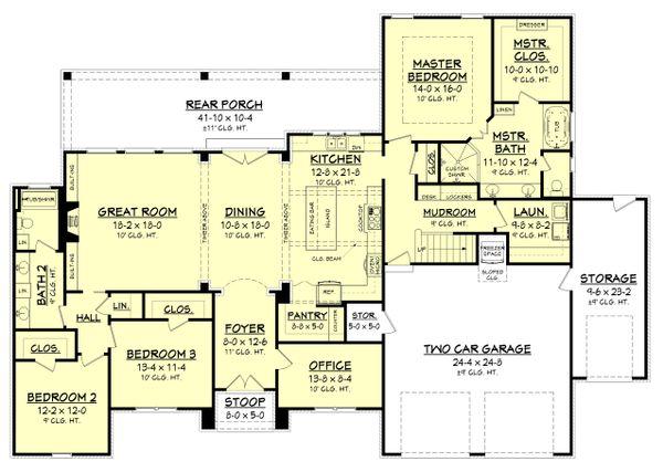 European Floor Plan - Main Floor Plan Plan #430-154