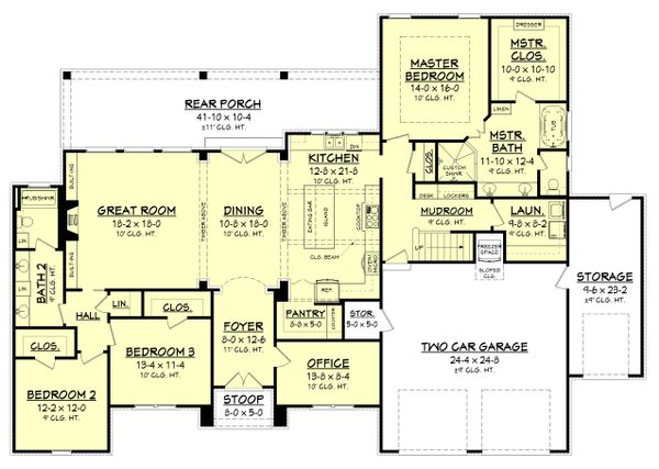House Plan Design - European Floor Plan - Main Floor Plan #430-154