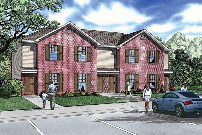 House Plan Design - Contemporary Exterior - Front Elevation Plan #17-2829