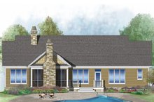 Craftsman Exterior - Rear Elevation Plan #929-1038