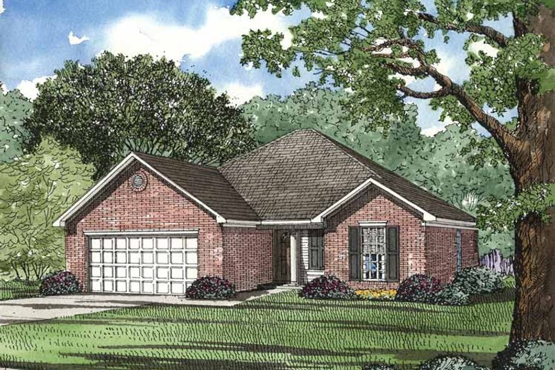 Country Exterior - Front Elevation Plan #17-2729