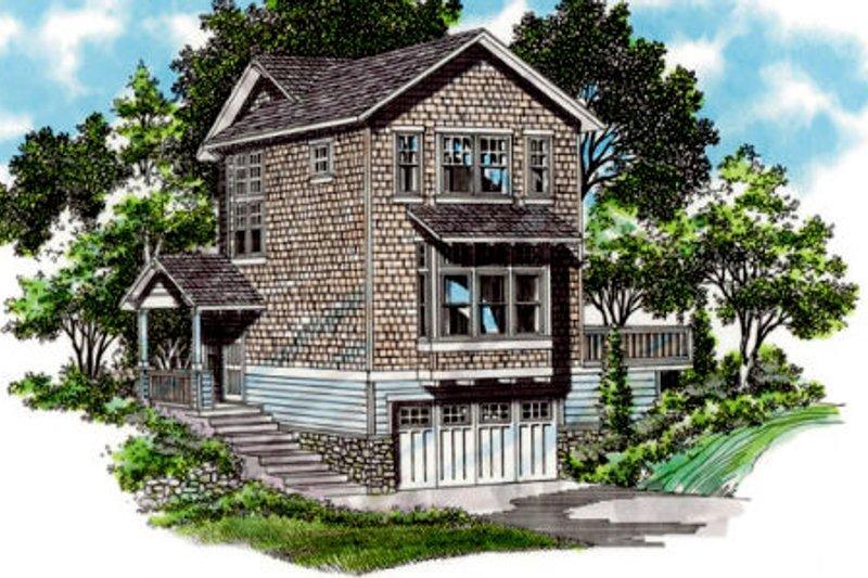 Craftsman Exterior - Front Elevation Plan #48-438