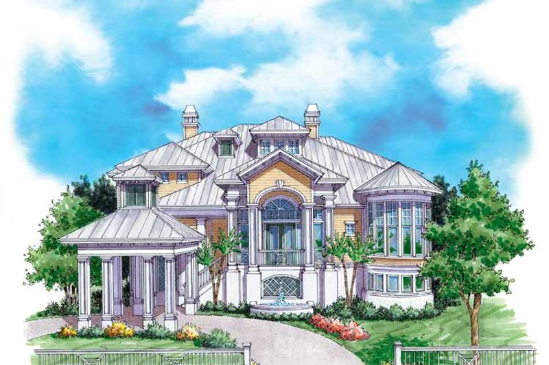 Mediterranean Exterior - Front Elevation Plan #930-135