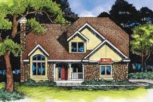 House Plan Design - European Exterior - Front Elevation Plan #320-518