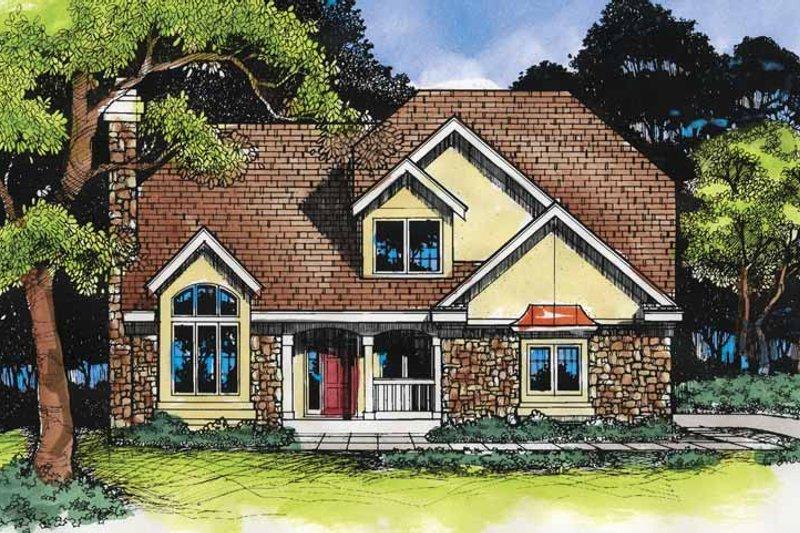 Dream House Plan - European Exterior - Front Elevation Plan #320-518
