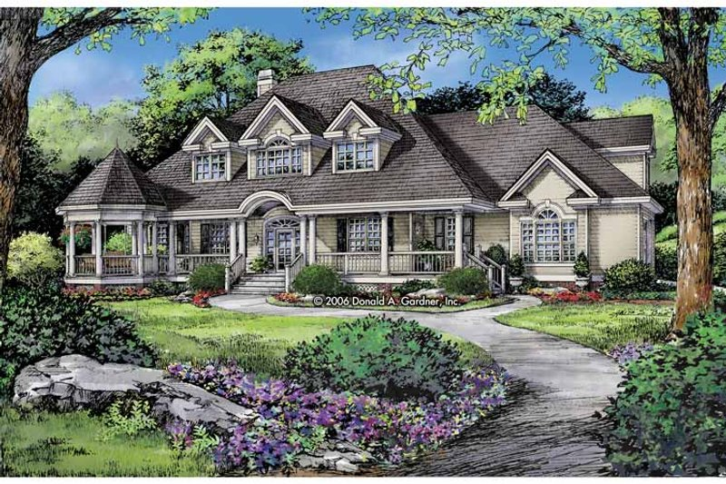 Victorian Exterior - Front Elevation Plan #929-823 - Houseplans.com