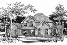 Home Plan - Traditional Exterior - Other Elevation Plan #22-214