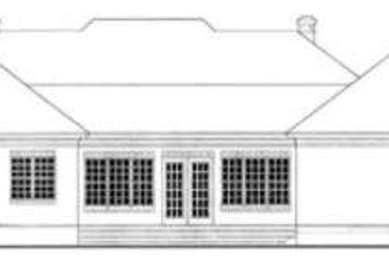 Southern Exterior - Rear Elevation Plan #406-116 - Houseplans.com