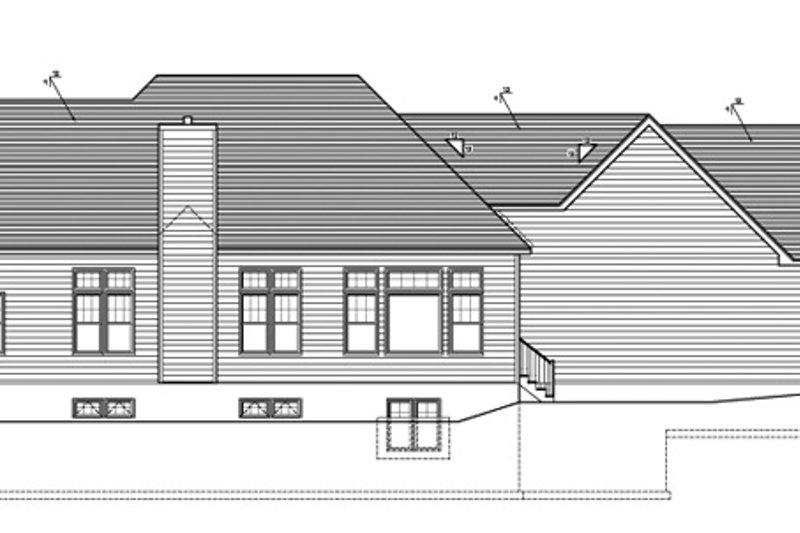 Ranch Exterior - Rear Elevation Plan #1010-85 - Houseplans.com
