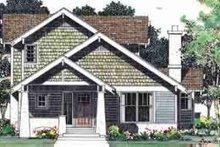 House Blueprint - Bungalow Exterior - Front Elevation Plan #72-462