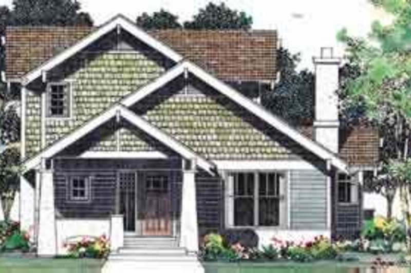 Bungalow Exterior - Front Elevation Plan #72-462