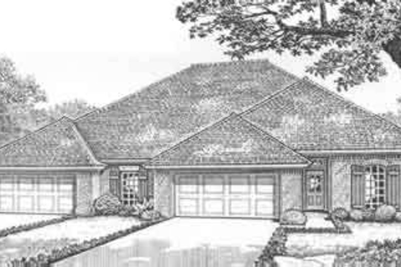 Traditional Style House Plan - 2 Beds 2 Baths 3127 Sq/Ft Plan #310-454 Exterior - Front Elevation