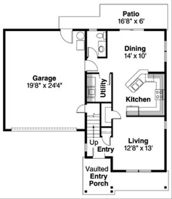 Floor Plan - Main Floor Plan Plan #124-719