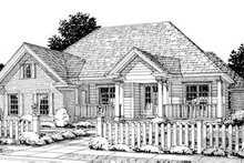 Cottage Exterior - Front Elevation Plan #20-1362