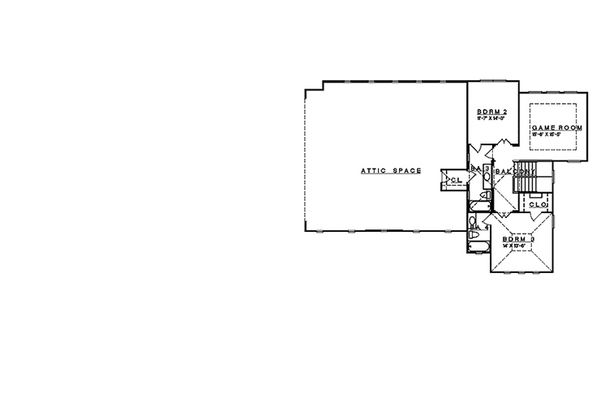 Mediterranean Floor Plan - Upper Floor Plan Plan #935-4