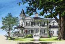 Victorian Exterior - Front Elevation Plan #137-249