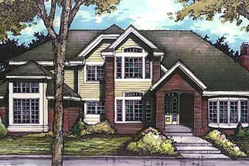 Traditional Exterior - Front Elevation Plan #320-458