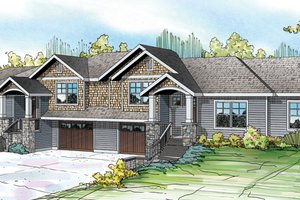 Craftsman Exterior - Front Elevation Plan #124-889