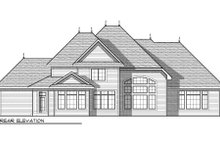 Home Plan - European Exterior - Rear Elevation Plan #70-960