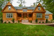 Country Style House Plan - 4 Beds 4.5 Baths 4256 Sq/Ft Plan #137-280 Exterior - Front Elevation