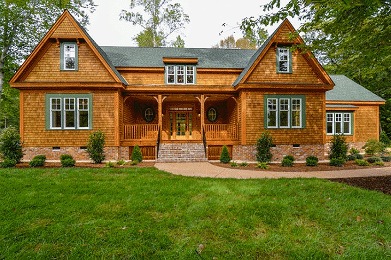 Country Exterior - Front Elevation Plan #137-280 - Houseplans.com