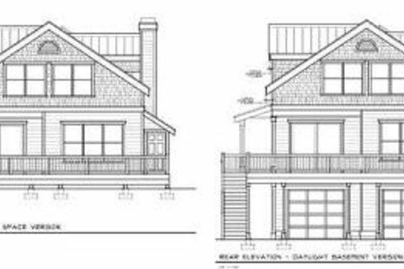 Bungalow Exterior - Rear Elevation Plan #100-213 - Houseplans.com