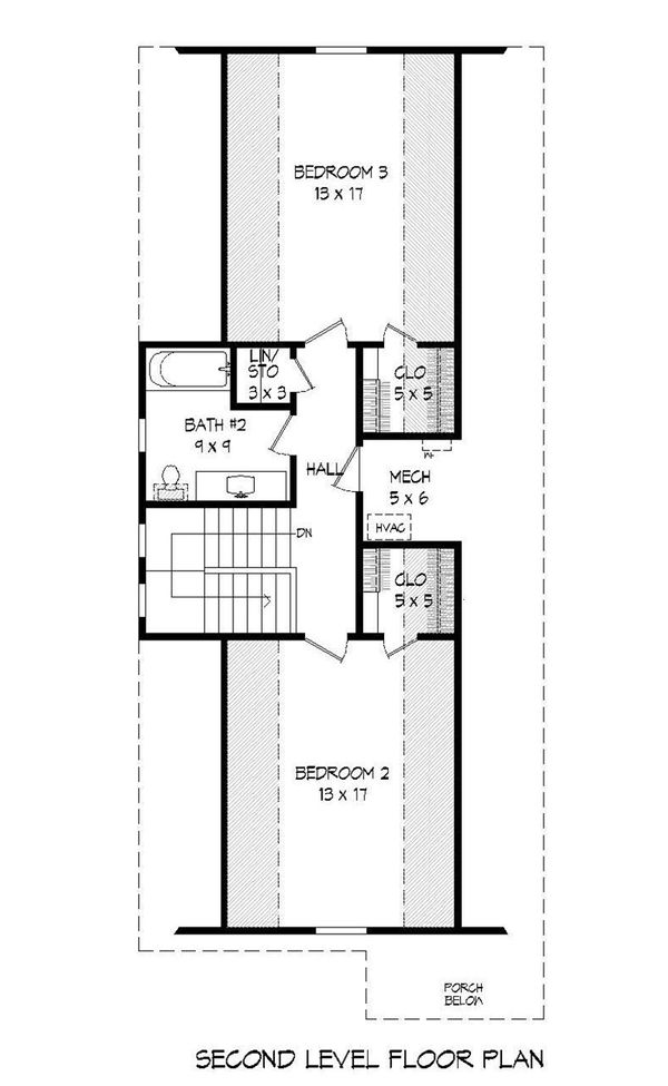 Cabin Floor Plan - Upper Floor Plan Plan #932-19