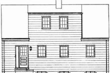 Colonial Exterior - Rear Elevation Plan #72-294