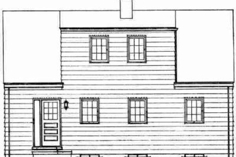 Colonial Exterior - Rear Elevation Plan #72-294 - Houseplans.com