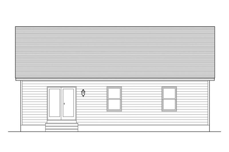 Ranch Exterior - Rear Elevation Plan #1010-1 - Houseplans.com