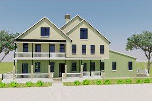 Farmhouse Exterior - Front Elevation Plan #542-10