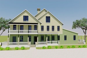 Home Plan Design - Farmhouse Exterior - Front Elevation Plan #542-10