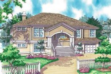 Colonial Exterior - Front Elevation Plan #930-30