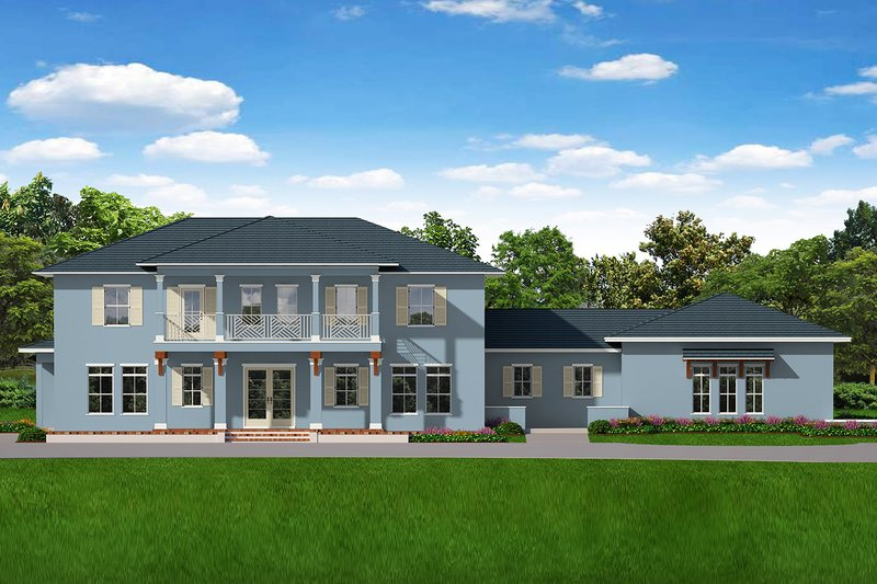 Southern Exterior - Front Elevation Plan #1058-178