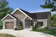 Craftsman Style House Plan - 2 Beds 2 Baths 1504 Sq/Ft Plan #23-2641 Exterior - Front Elevation